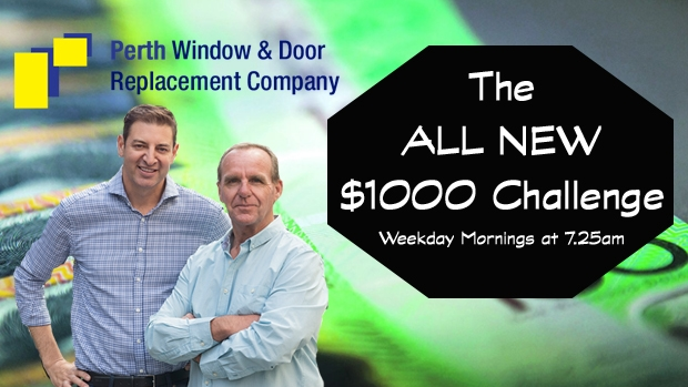 Article image for The $1000 Challenge, weekday mornings at 7.25am