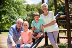 Playground play for grandkids and grandparents