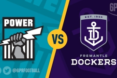 Fremantle Dockers overPOWERed by Port in wet conditions.