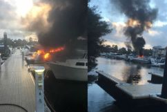 Fire at Ascot Waters destroys boat