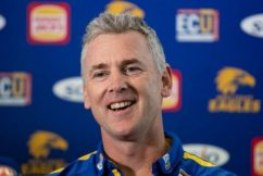 West Coast Eagles coach Adam Simpson ahead of the Western Derby