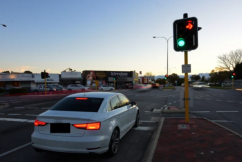 Red right-turn lights here to stay