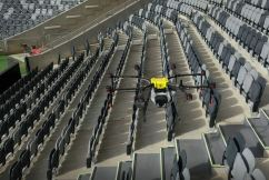 Disinfecting drones could be the key to live sport
