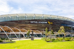 Optus Stadium CEO Mike McKenna talks after crowds are shut out of Derby 52