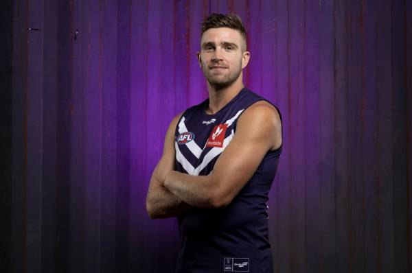 Article image for Dockers star rates Brennan Cox's chances of playing the Derby